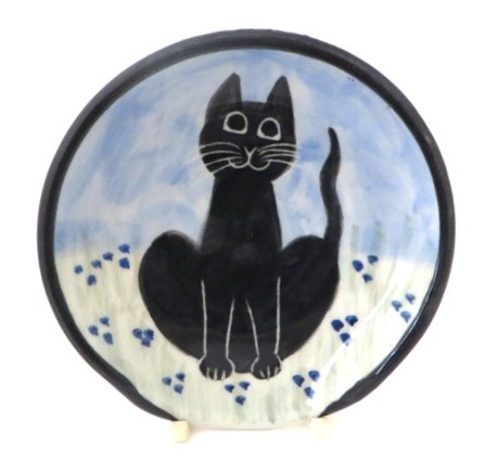 Cat Sitting Black -Deluxe Spoon Rest