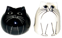 Cats - Black and White - Salt and Pepper Shaker