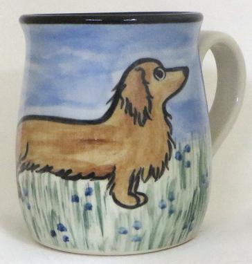 Dachshund Long Hair Red -Deluxe Mug