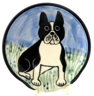 French BullDog Black and White -Deluxe Spoon Rest