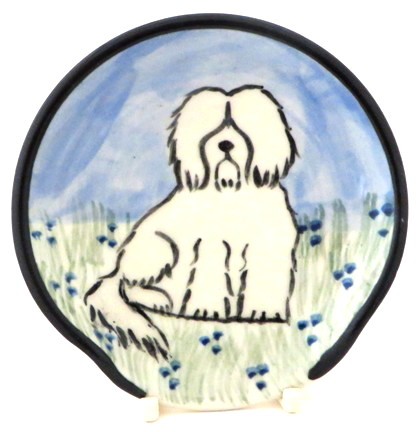 Havanese White -Deluxe Spoon Rest
