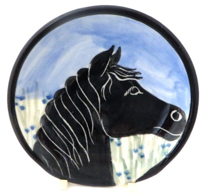 Horse Black -Deluxe Spoon Rest