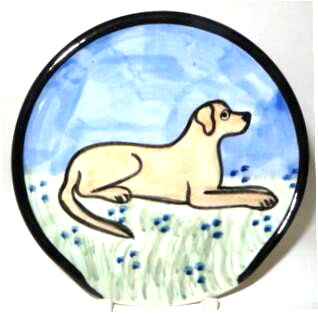 Labrador Yellow -Deluxe Spoon Rest