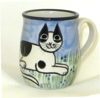 Cat Lying Black & White -Deluxe Mug