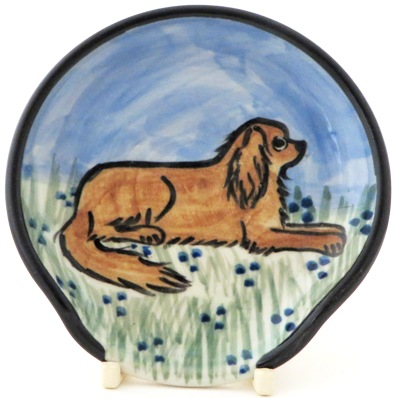 King Charles Spaniel Ruby -Deluxe Spoon Rest