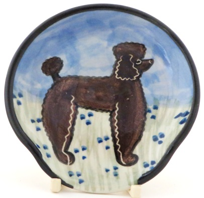 Poodle Chocolate -Deluxe Spoon Rest