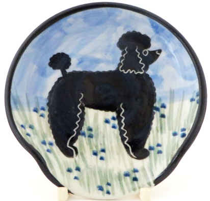 Poodle Black -Deluxe Spoon Rest