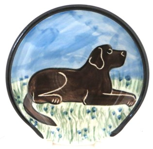 Labrador Chocolate -Deluxe Spoon Rest